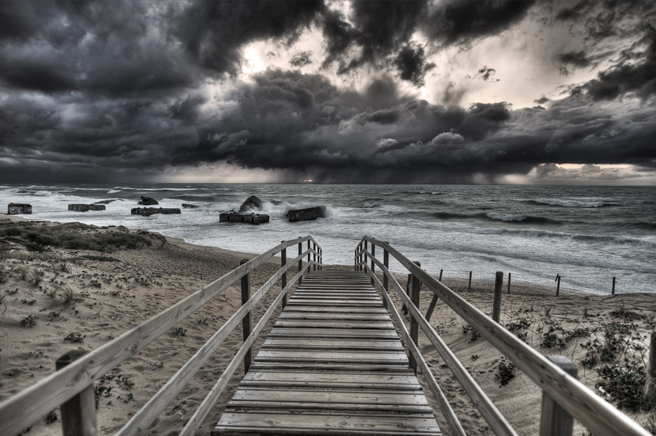 A piece of fine art art photography titled Storm S Approaching by Gilles Bonugli Kali