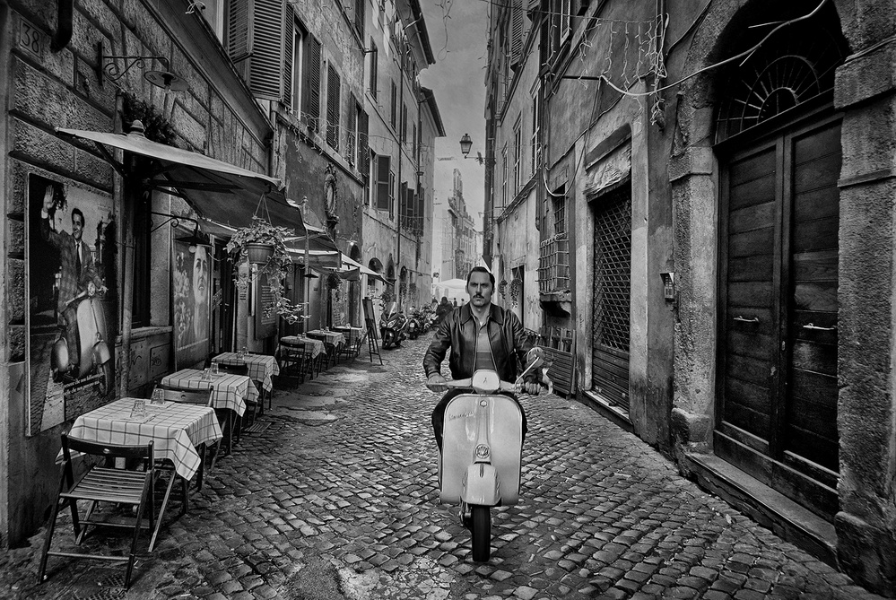 View this piece of fine art photography titled The Vespas of Rome by Jose C. Lobato