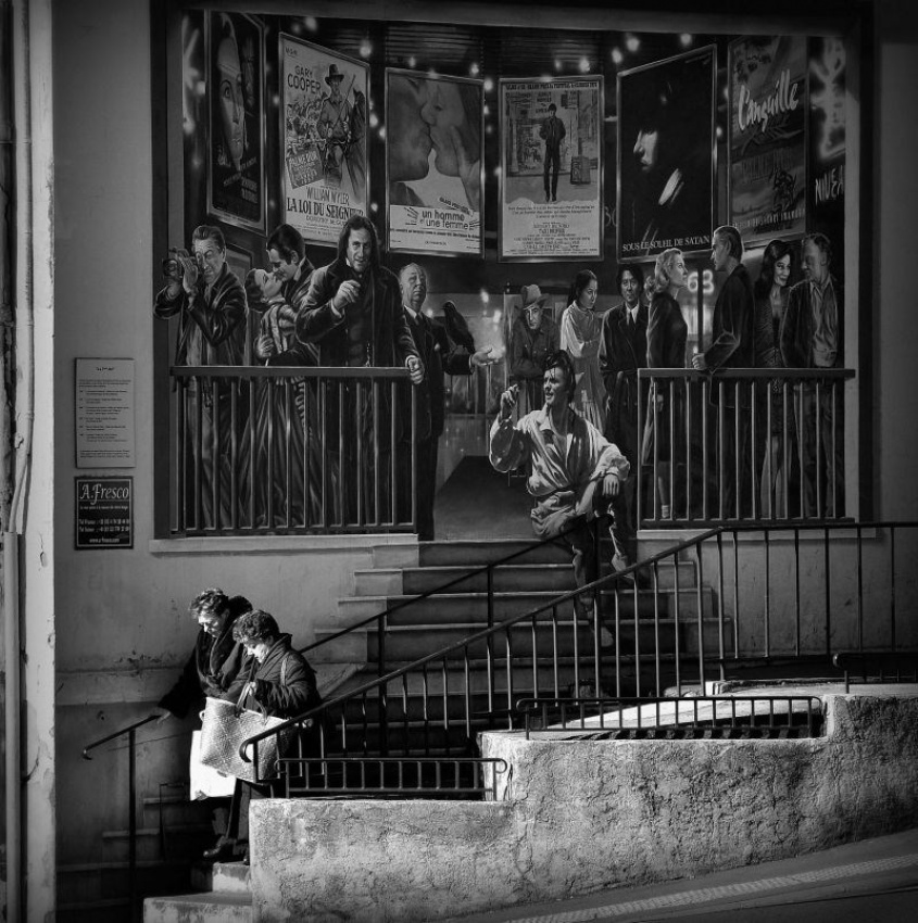 A piece of fine art art photography titled The Steps of Cannes by Laurent Roch