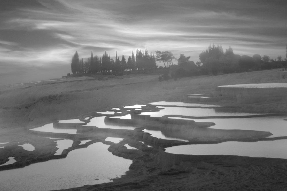 A piece of fine art art photography titled Pamukkale by ahmet orhan