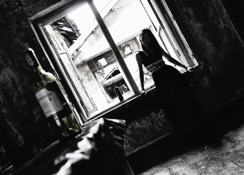 A piece of fine art art photography titled The Last Wine by Heriansyah Cibo