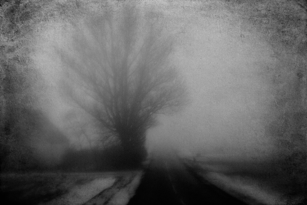 A piece of fine art art photography titled The Road by Jørgen Feldstedt