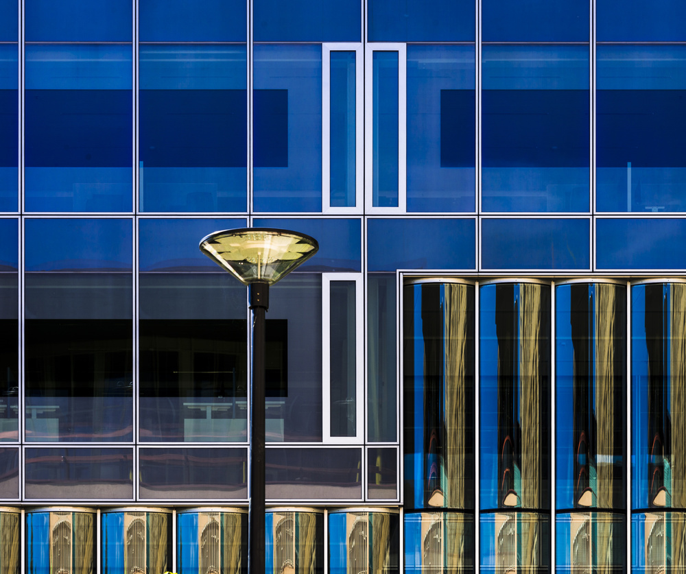 A piece of fine art art photography titled Facade Mirror by minimalist