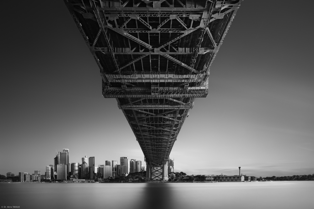 A piece of fine art art photography titled Back to Human Life, Sydney Harbour Bridge Version by Dr. Akira TAKAUE