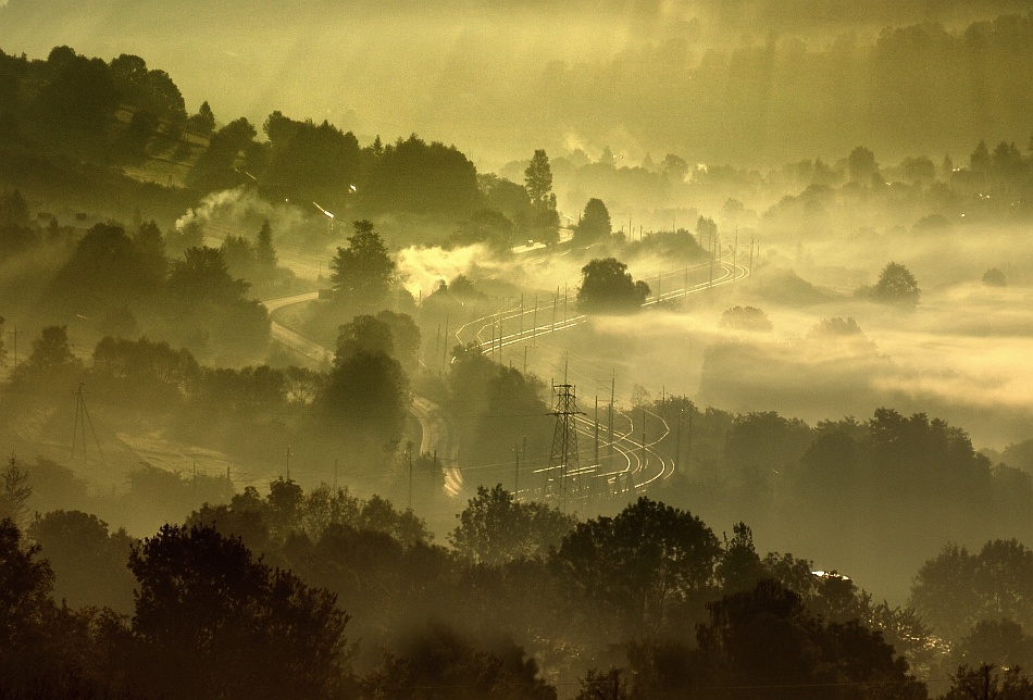 A piece of fine art art photography titled Dream About the Valley by Janusz Wanczyk