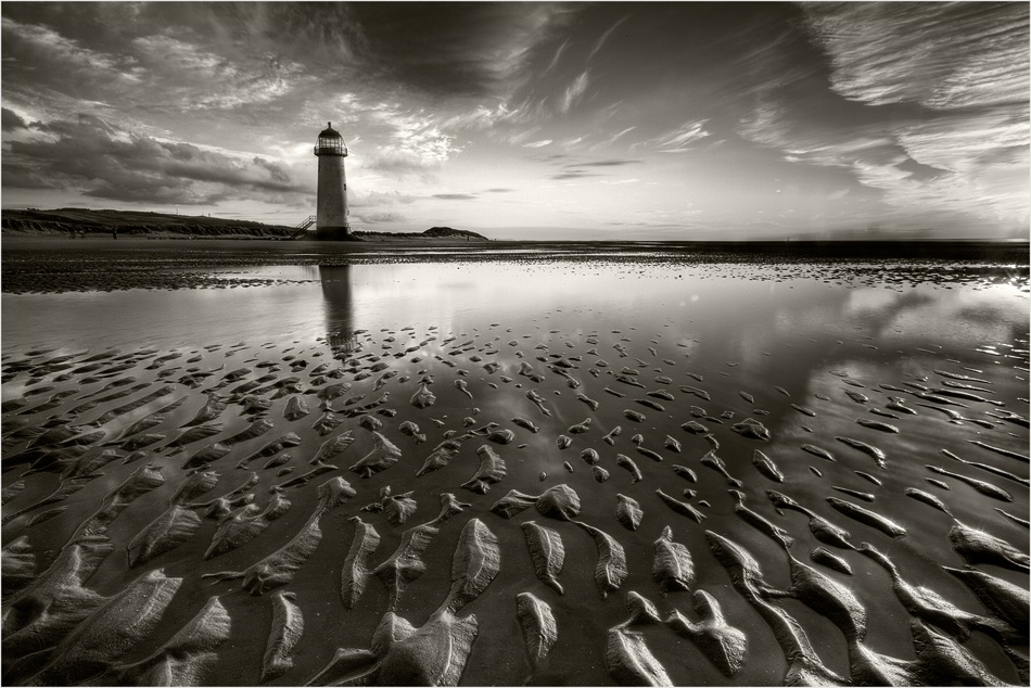 A piece of fine art art photography titled Midsummer at Point of Ayr by Amanda Broughton