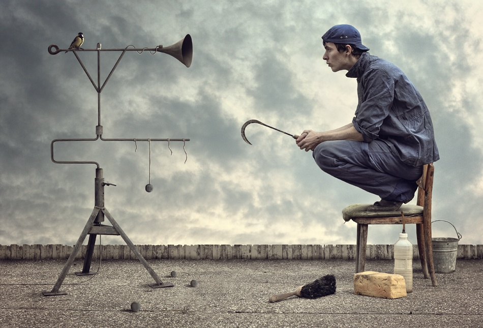 A piece of fine art art photography titled Feeling by Peter Cakovsky