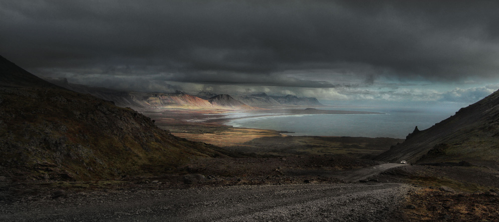 A piece of fine art art photography titled A Piece of Iceland by Amador Funes
