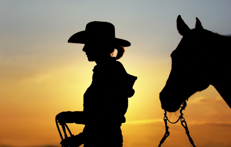 A piece of fine art art photography titled Cowgirl by Nicole Boehm