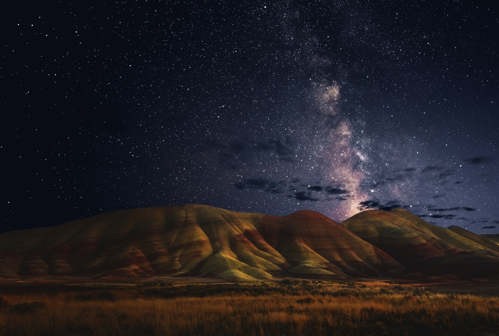 A piece of fine art art photography titled Painted Hills by John Qu