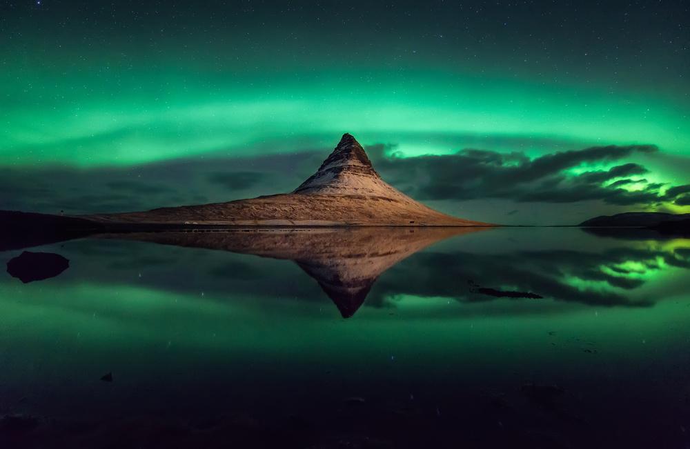 A piece of fine art art photography titled Kirkjufell - Iceland by Hernan Calderon Velasco