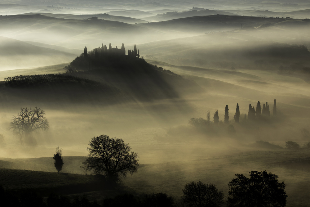 A piece of fine art art photography titled Tuscany by daniel penciuc