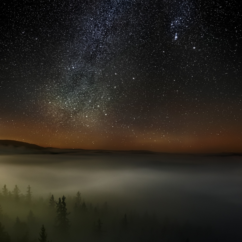 A piece of fine art art photography titled My First Milky Way by Jiri Stekl