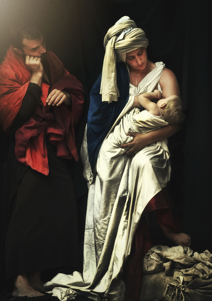 A piece of fine art art photography titled Rest On the Flight Into Egypt by Gennaro Parricelli