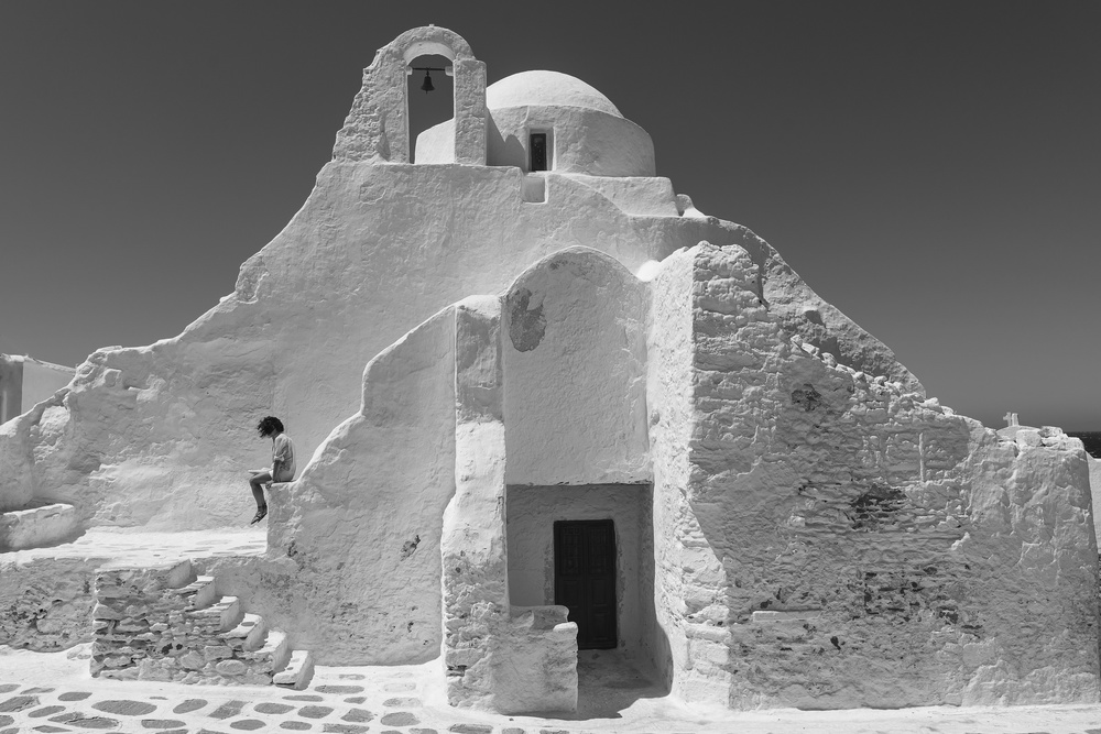 View this piece of fine art photography titled Paraportiani,Mykonos, Greece by Zameer Abdul Majeed
