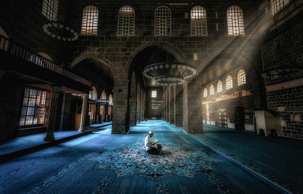 A piece of fine art art photography titled Prayer and Mosque by Babak Mehrafshar (Bob)