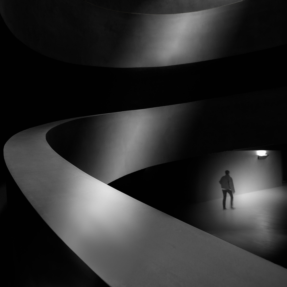 A piece of fine art art photography titled Between the Shadows by Olavo Azevedo