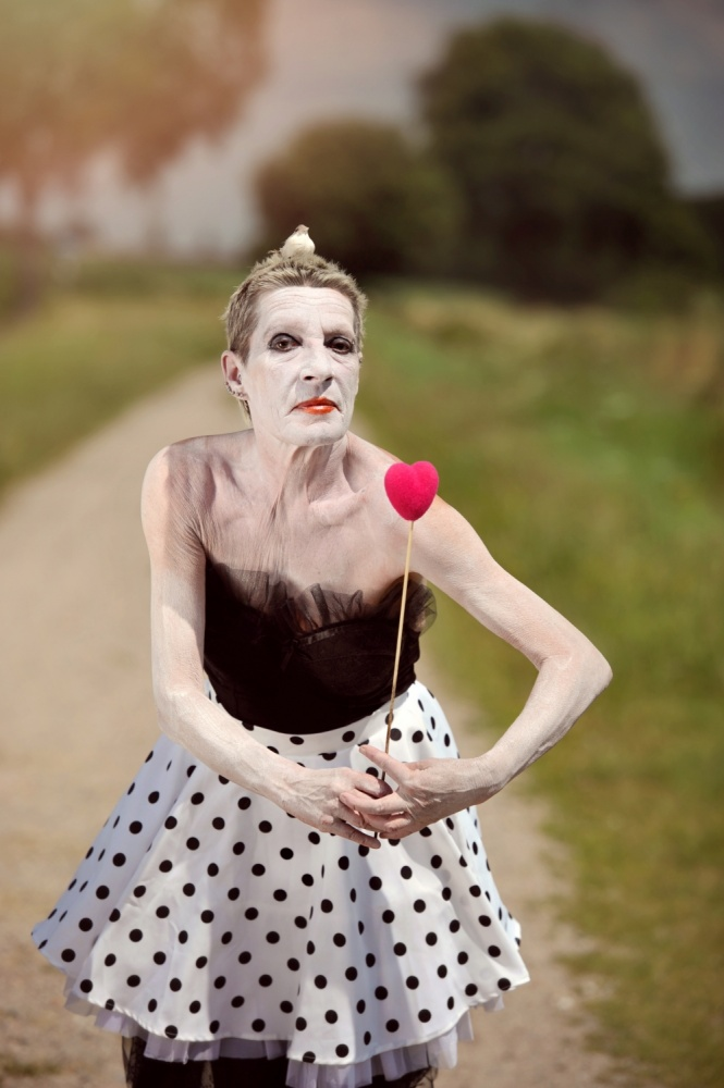 A piece of fine art art photography titled Pink Heart by Monika Vanhercke