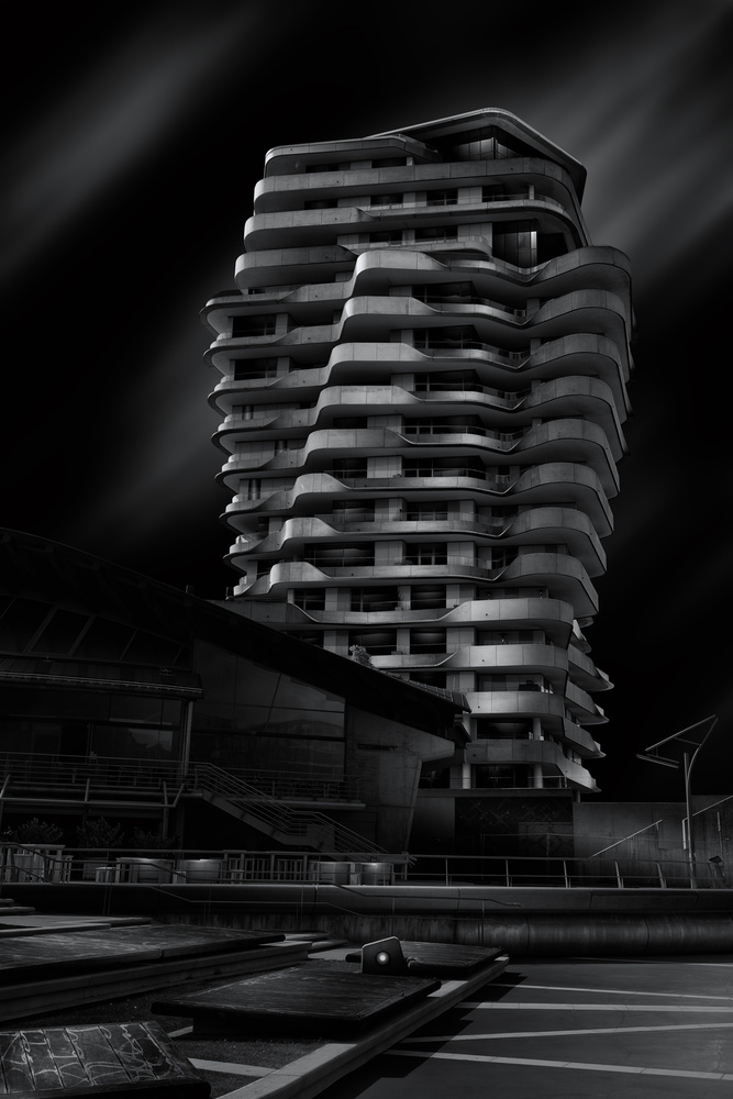 A piece of fine art art photography titled Marco-Polo-Tower by Matthias Hefner