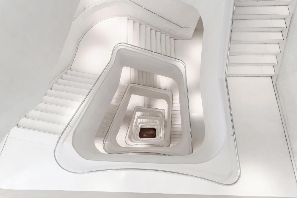 A piece of fine art art photography titled Stairway to the Underworld by Álvaro Pérez & Jose M. Pérez. Brothers