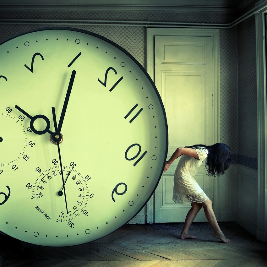A piece of fine art art photography titled The Weight of Time by Julie de Waroquier
