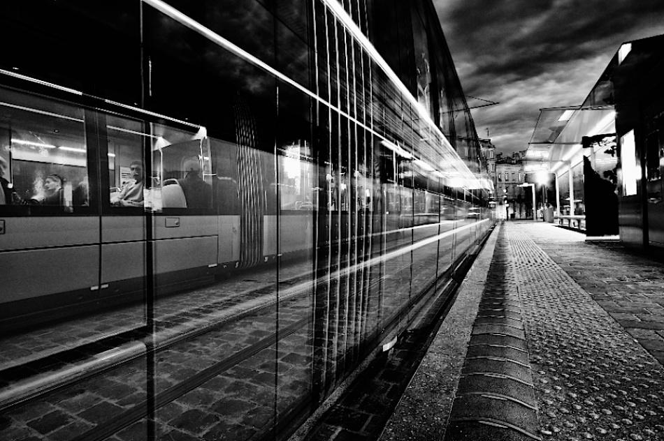 A piece of fine art art photography titled Dark Tramway by Tonino CRAPIZ