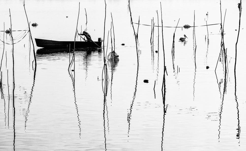 A piece of fine art art photography titled Boat by Zhecho Planinski