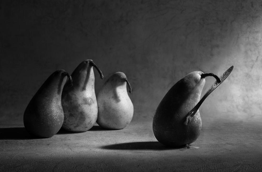 A piece of fine art art photography titled The Harakiri by Victoria Ivanova