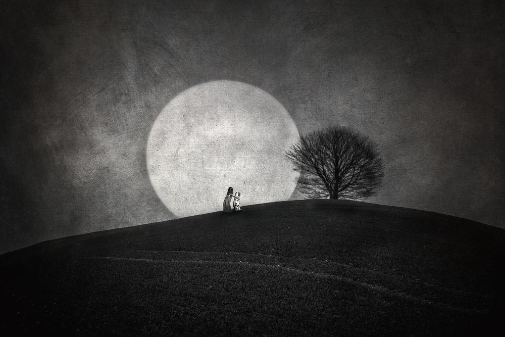 A piece of fine art art photography titled Sleepless by Ute Scherhag