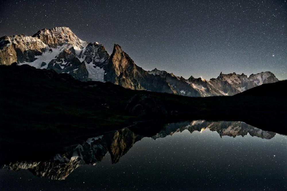 A piece of fine art art photography titled Moonlapse Vertigo by Davide Azzetti