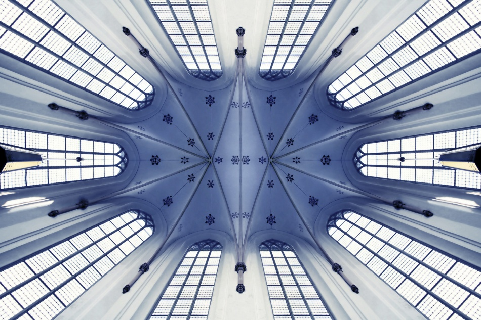 A piece of fine art art photography titled Vaulted Ceiling by theo peekstok