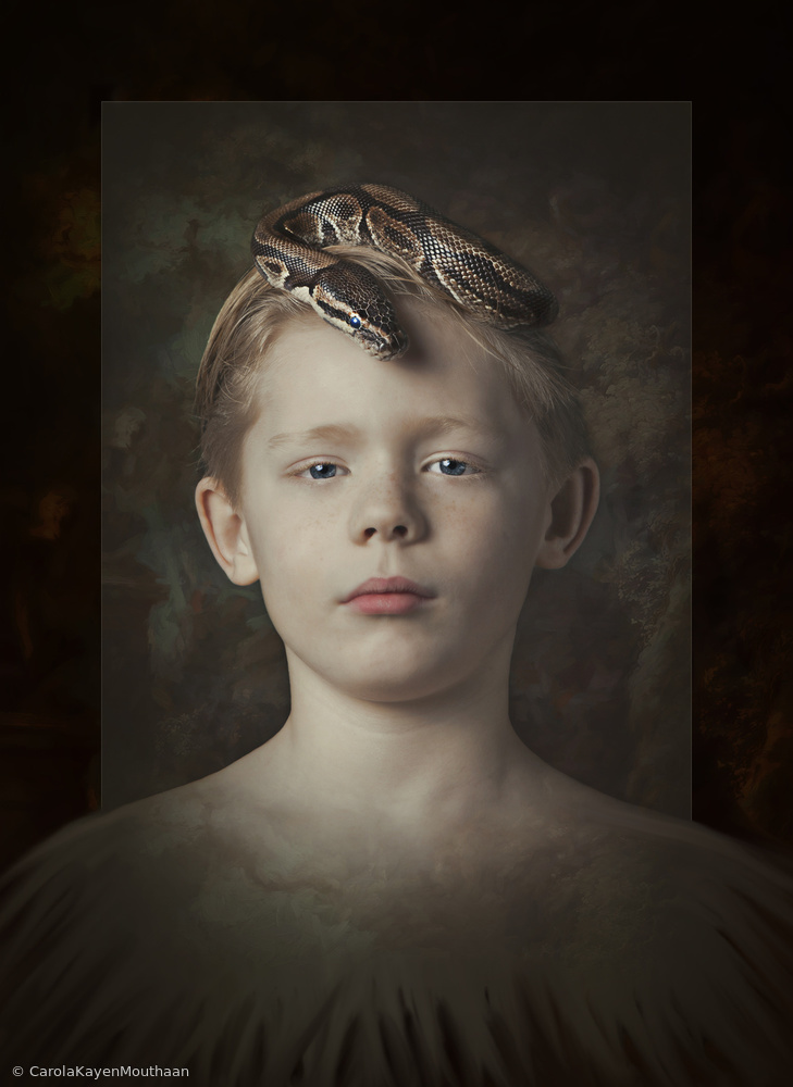 View this piece of fine art photography titled Snake boy by Carola Kayen-Mouthaan