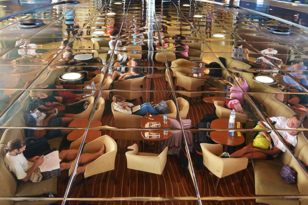 A piece of fine art art photography titled Ferry Passengers by Vedrana Domazet