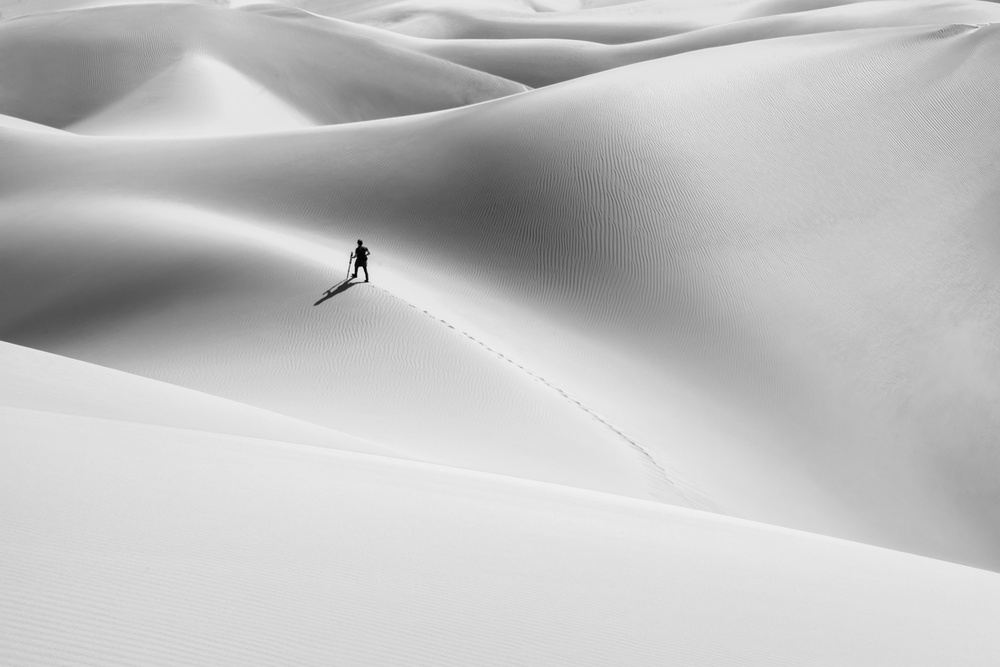 View this piece of fine art photography titled shadow of the desert by Hamid Jamshidian