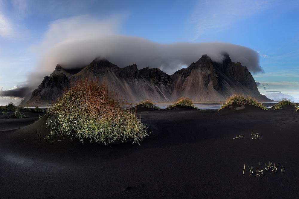 A piece of fine art art photography titled Stokksnes and Vestrahorn - the Vatnajökull Region by Ronny Olsson