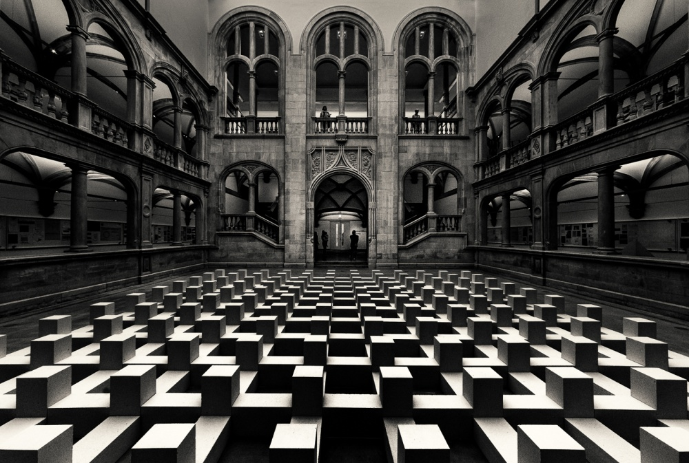 A piece of fine art art photography titled Atrium by Frank Gustrau