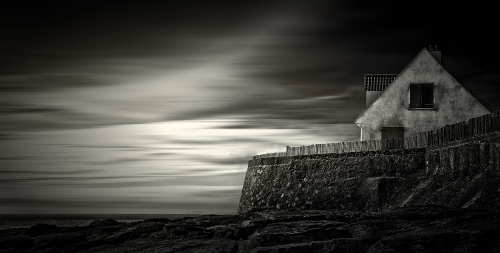 A piece of fine art art photography titled The Fisherman's House by Gilbert Claes