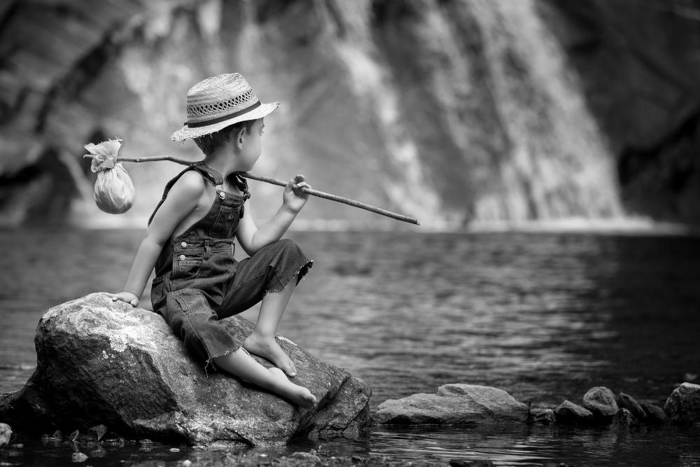 A piece of fine art art photography titled Huckleberry Finn by Bruno Birkhofer