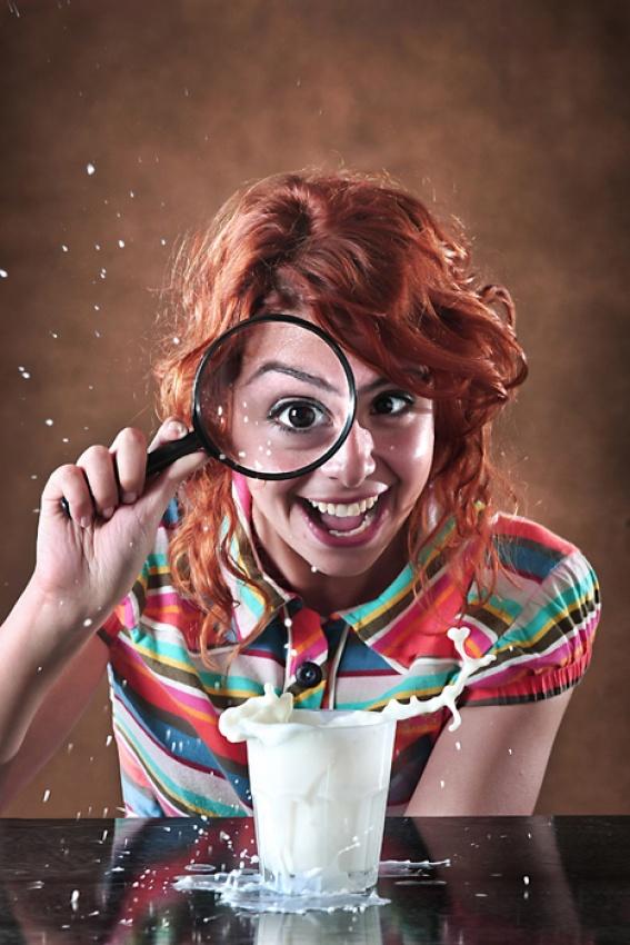 A piece of fine art art photography titled Milk Shot by miracsaglam