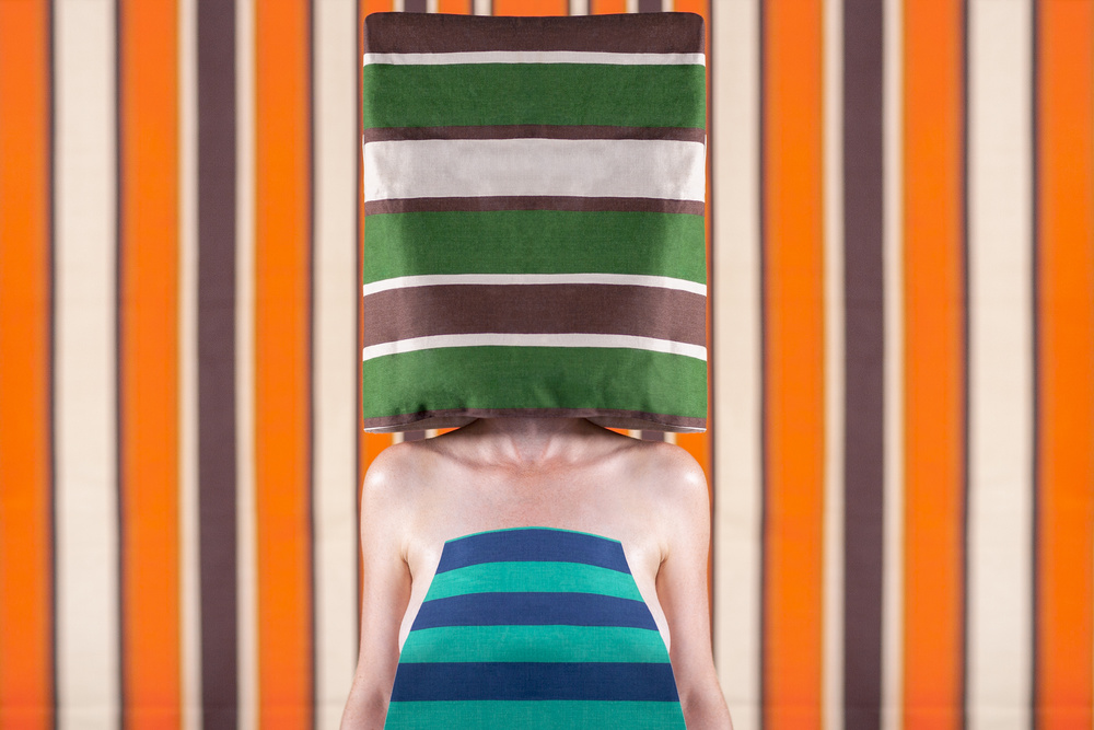 A piece of fine art art photography titled Lady In Stripes by Jozef Danyi  EFIAP, EP, AFF