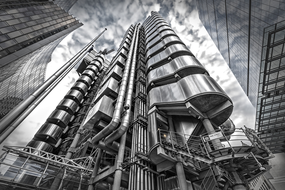 A piece of fine art art photography titled Lloyd's of London by Herbert A. Franke