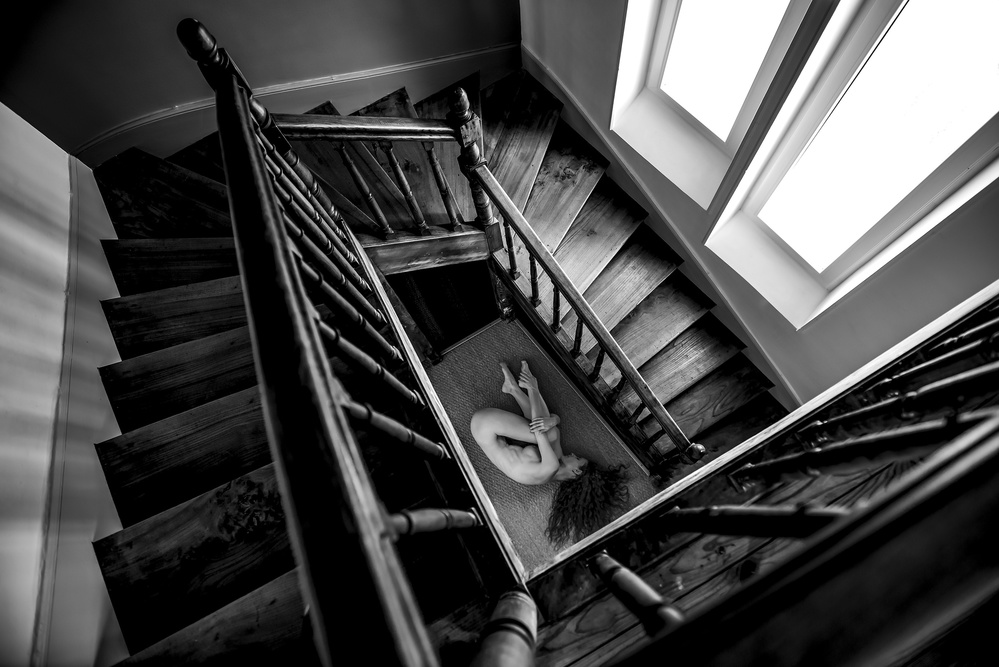 A piece of fine art art photography titled Staircase by Thomas FISCHER