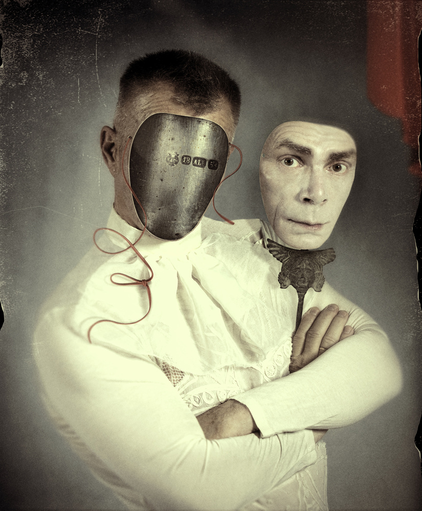 A piece of fine art art photography titled Mask by Svetlana Melik-Nubarova