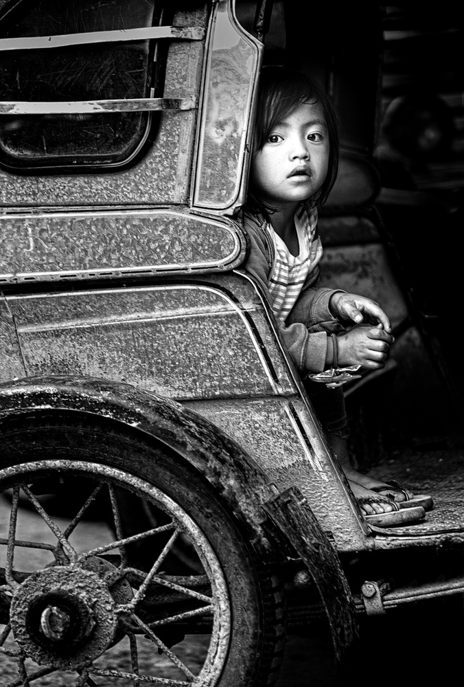 View this piece of fine art photography titled Driver's daughter by Izidor Gasperlin