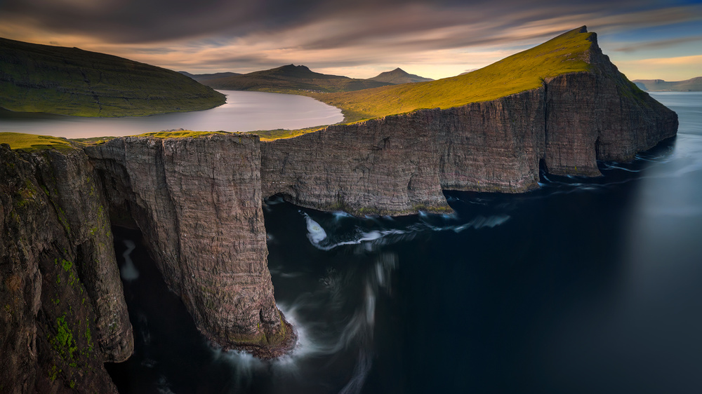 A piece of fine art art photography titled Sorvagsvatn by Wojciech Kruczynski