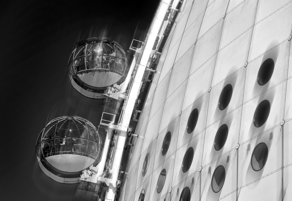 A piece of fine art art photography titled Globe Sky View by Hans-Wolfgang Hawerkamp