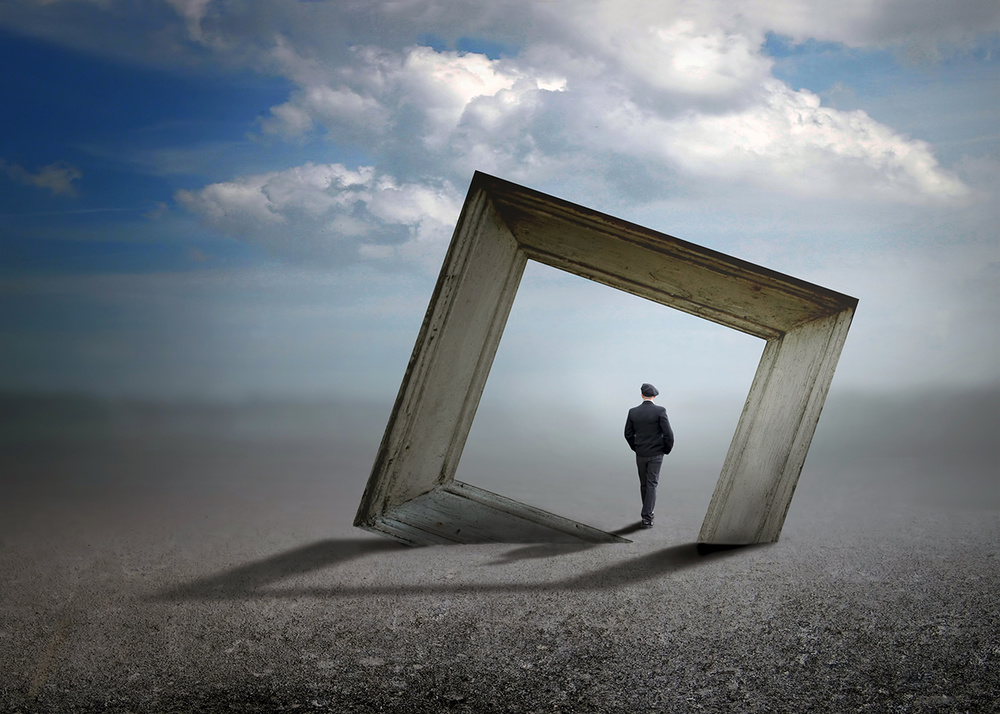 A piece of fine art art photography titled Trough the Frame by Ben Goossens