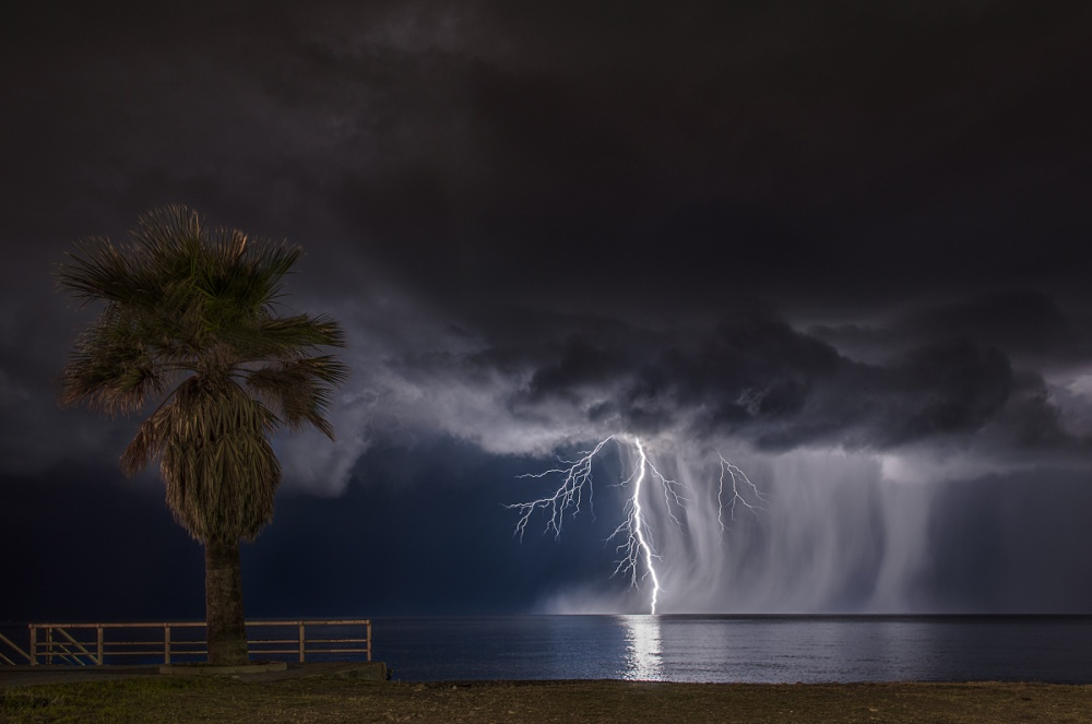 A piece of fine art art photography titled Thunderstorm In Sicily by Pino Grasso