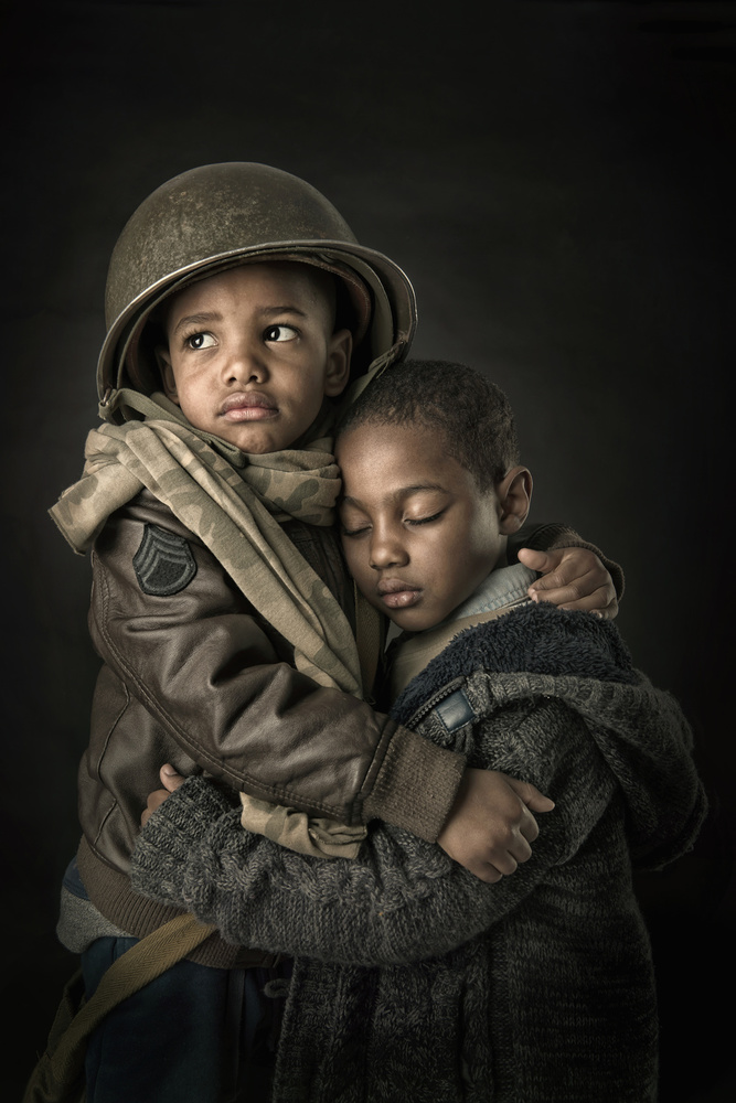 A piece of fine art art photography titled Brothers In Arms by Luis Louro