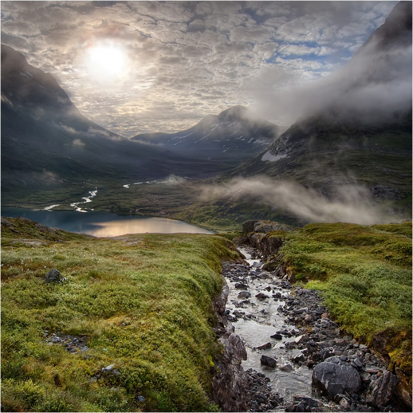 A piece of fine art art photography titled The Valley by Roger Arleryd